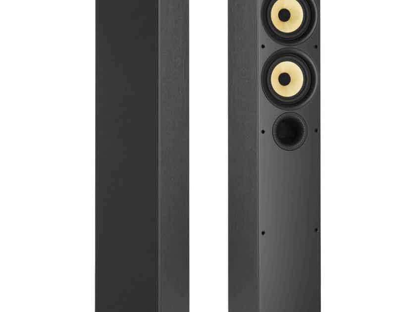 B&W 684 S2 Floorstanding Speakers Black Ash Pair (New) (15312)