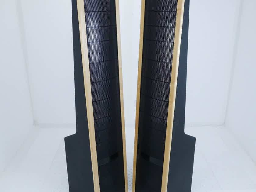 Martin Logan SL-3 Electrostatic Hybrid Speakers; Oak Pair; AS-IS (Imbalanced) (15168)