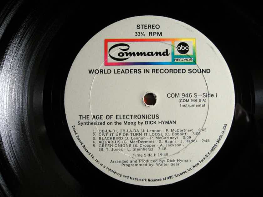 Dick Hyman - The Age Of Electronicus - Original 1969 Command 946-S