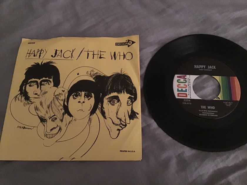 The Who Happy Jack 45 With Picture Sleeve