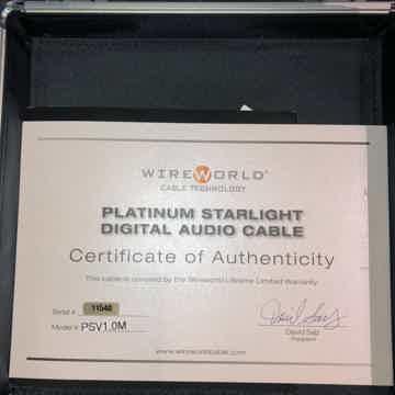 Wireworld Platinum Starlight 7 Digital Cable