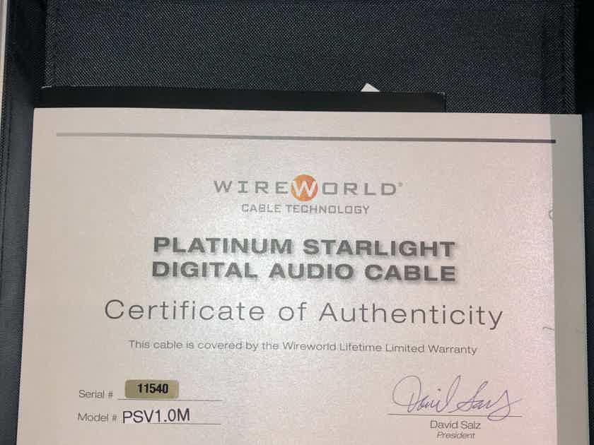 Wireworld Platinum Starlight 7 Digital Cable - 1 Meter