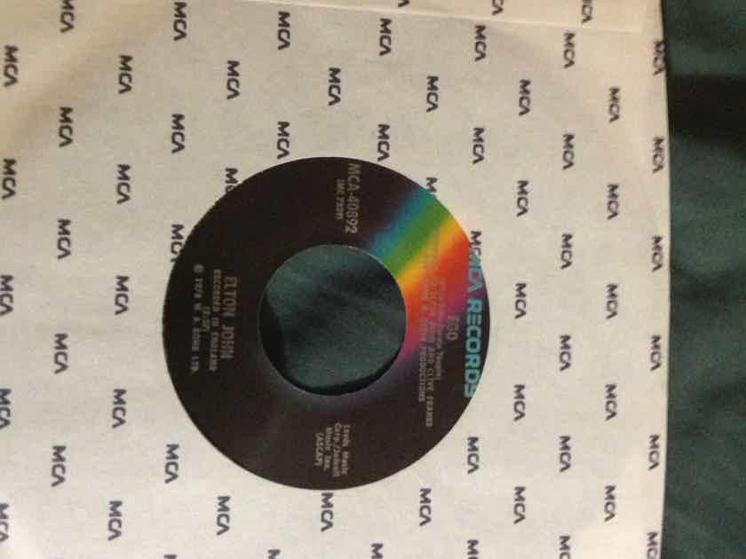 Elton John - Ego/Flinstone Boy MCA Records Rainbow Label 45 Single Vinyl NM