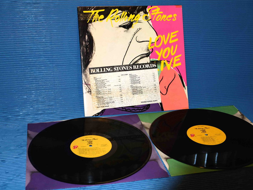 """THE ROLLING STONES - """"Love You Live"""" - RSR Promo set 1977 1st Press Sterling w/DJ Timing Sheet"""