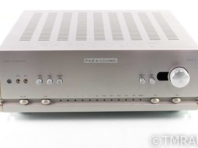 Parasound Halo Hint 6 Stereo Integrated Amplifier; MM / MC Phono; Remote (27233)
