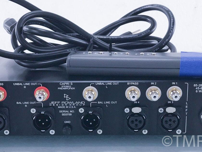 Jeff Rowland Capri S Stereo Preamplifier; Remote (3947)