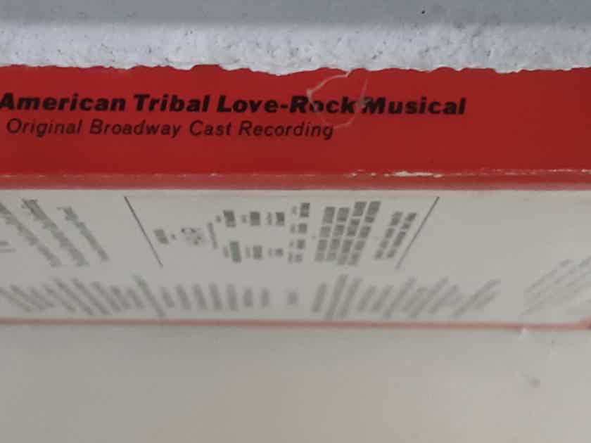 Hair - The American Tribal Love-Rock Musical (The Original Broadway Cast Recording) REEL-TO-REEL TAPE 1968  RCA Victor TO3-1012
