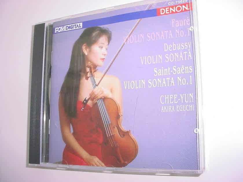 Denon cd CHEE YUN Akira Eguchi Faure Debussy  Saint Saens violin sonata