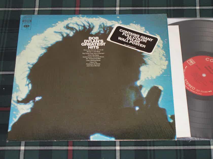 "Bob Dylan - ""BOB DYLAN'S GREATEST HITS"" In Shrink w/Sticker + POSTER  KCS 9463 <360> labels!"