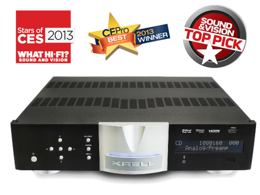 KRELL Foundation 4K UHD preamp with CHORUS 7200 power amp amazing set-up! Best HT amp/pre-pro on Audiogon