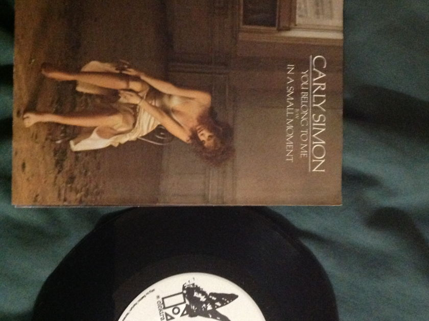 Carly Simon - You Belong To Me Promo 45 With Sleeve