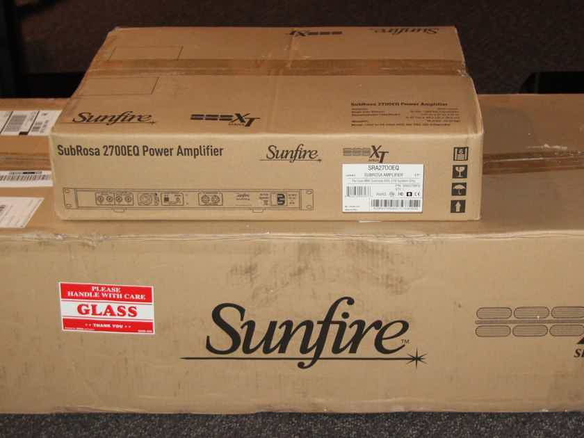 Sunfire SRS-210r SubRosa NEW w Matching Amp !