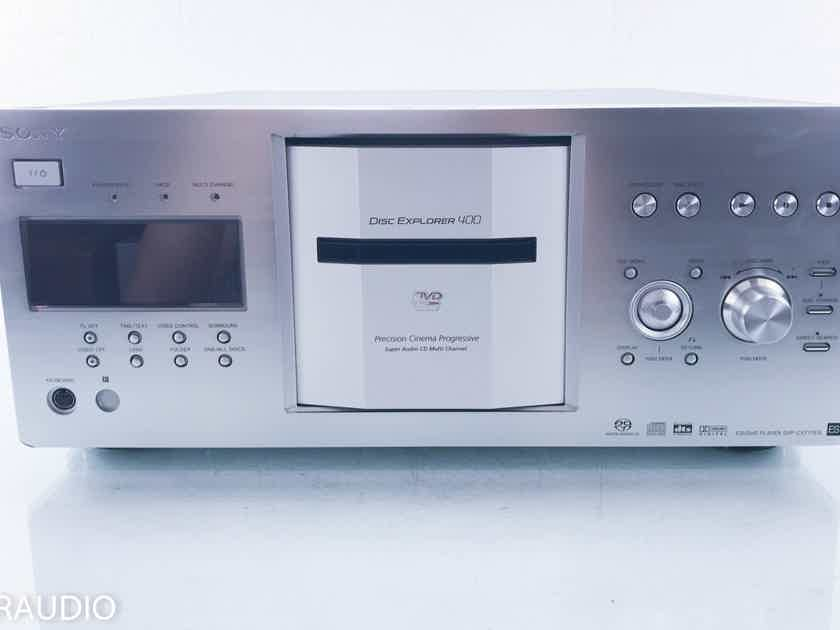 Sony DVP-CX777ES 400 Disc CD / SACD Changer / Player Silver; AS-IS (Damaged; No remote) (13064)