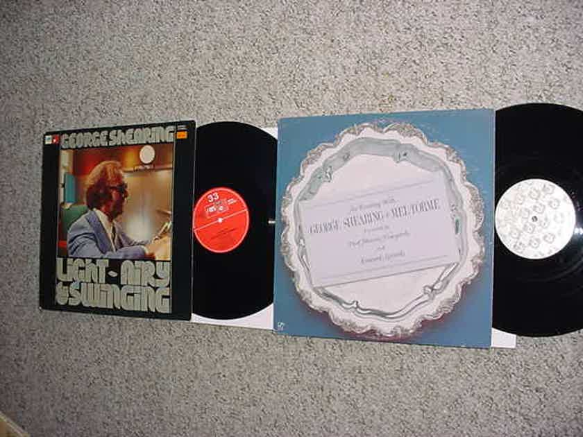 George Shearing 2 lp records  Light airy swinging and evening Mel Torme see add