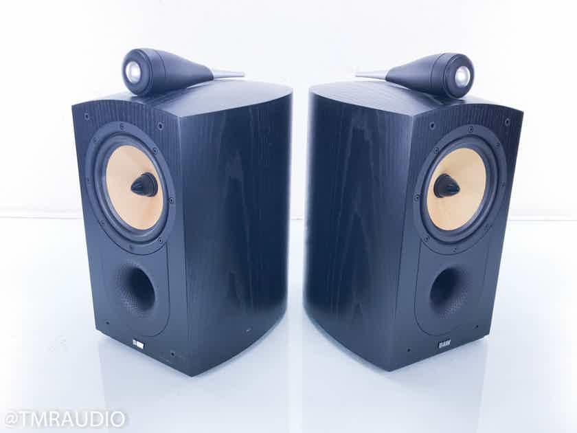 B&W Nautilus 805 Bookshelf Speakers Black Ash Pair (13816)