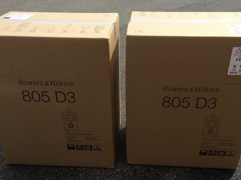 B&W Bowers & Wilkins 805 D3 (One Pair, Gloss Black) BRAND NEW, FREE SHIPPING