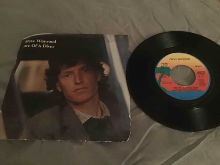 Steve Winwood Promo 45 With Picture Sleeve Vinyl NM  Arc Of A Diver