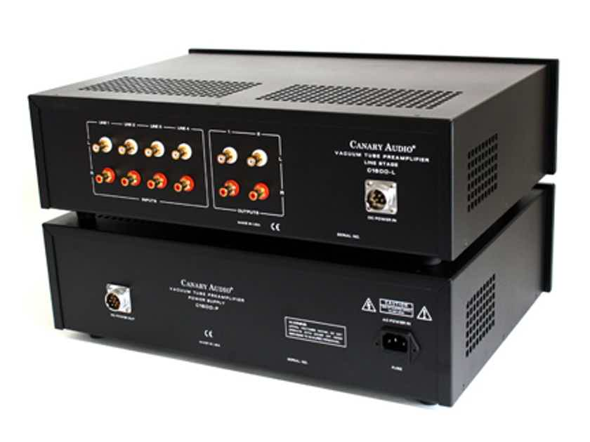 Canary Audio C1600 Reference Two Box Tube Preamplifier + Bonus