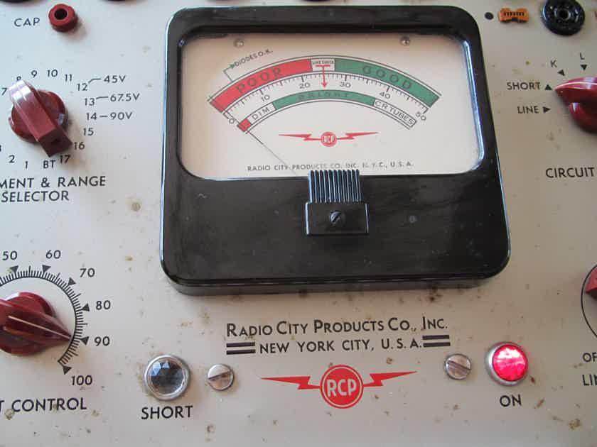 RADIO CITY PRODUCTS VACUUM TUBE TESTER
