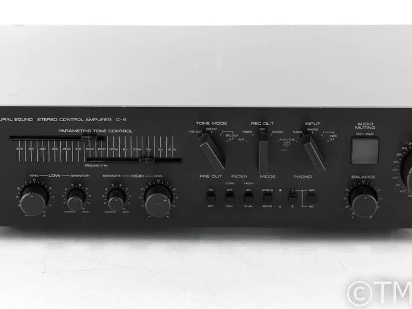 Yamaha C-6 Vintage Stereo Preamplifier; MM / MC Phono; AS-IS (Intermittent) (22932)