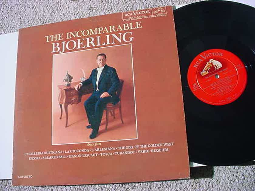 Jussi Bjoerling the incomparable - Bjoerling lp record RCA Victor shaded dog LM 2570
