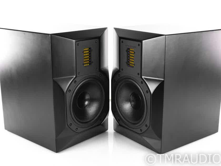 Emotiva Stealth 8 Powered Bookshelf Speakers; Black Pair (22757)