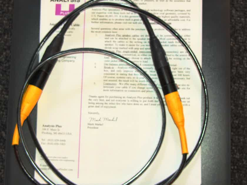 Analysis Plus Inc. Copper Oval-In 1 meter XLR's