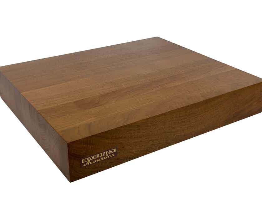 "Butcher Block Acoustics 17"" X 14"" X 3"" Walnut Edge-Grain Audio Platform"