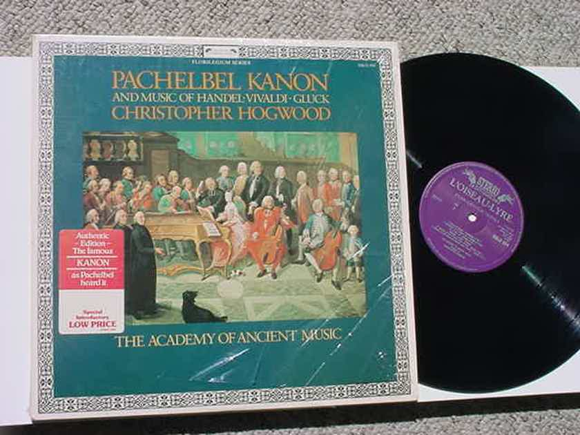 Christopher Hogwood Pachelbel Kanon  - music of Handel Vivaldi Gluck lp record 1981 HOLLAND