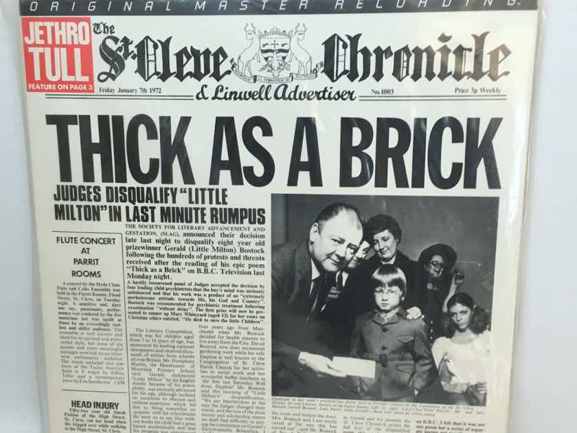 """RARE SEALED AUDIOPHILE Jethro Tull """"Thick As A Brick"""" MFSL 1-187  (1985)  $145"""