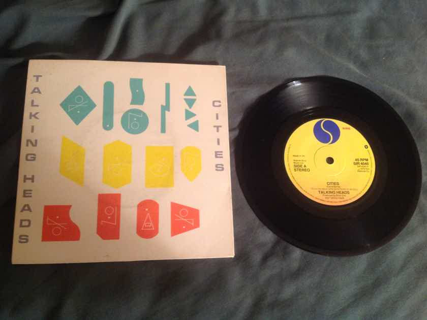Talking Heads Sire Records U.K. 45 With Sleeve  Cities/Cities( Live)
