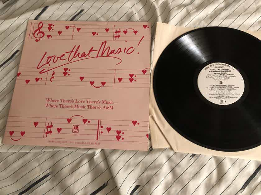 Various A & M Sampler White Label Promo LP  Love That Music Valentine Sampler