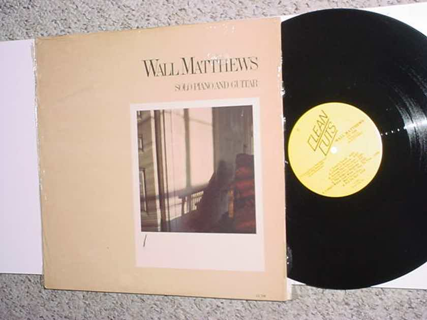 Wall Matthews solo piano and guitar - lp record jazz 1984 cc708 Clean cuts