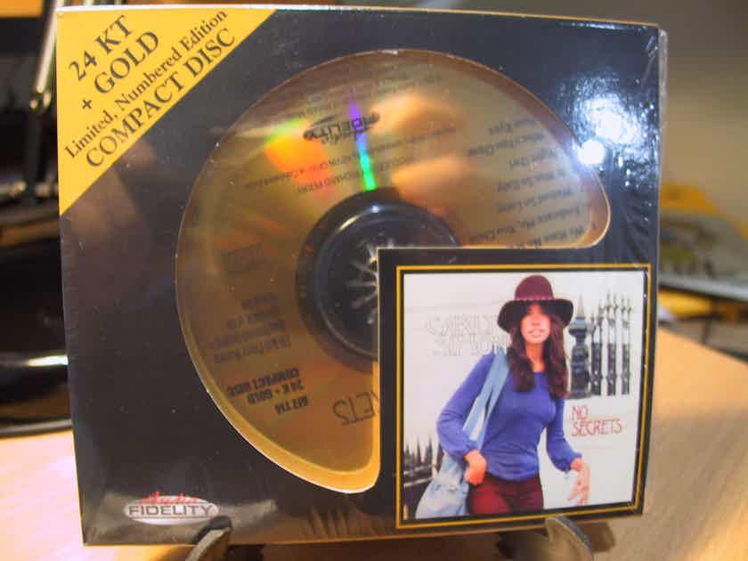 24K Gold CD HDCD AFZ-114 Carly Simon No Secrets Sealed #2109/5000