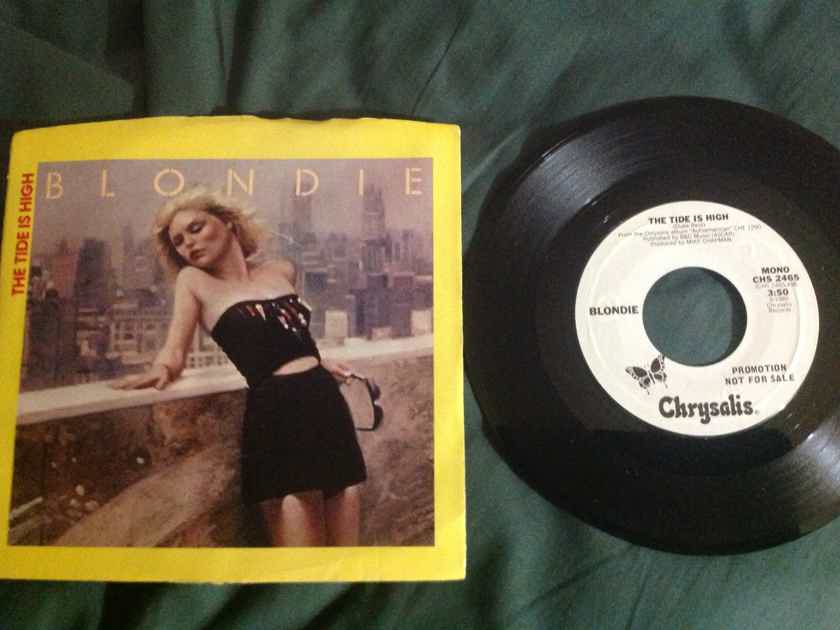Blondie - The Tide Is High Chrysalis Records Promo 45 Single  With  Sleeve Mono Stereo