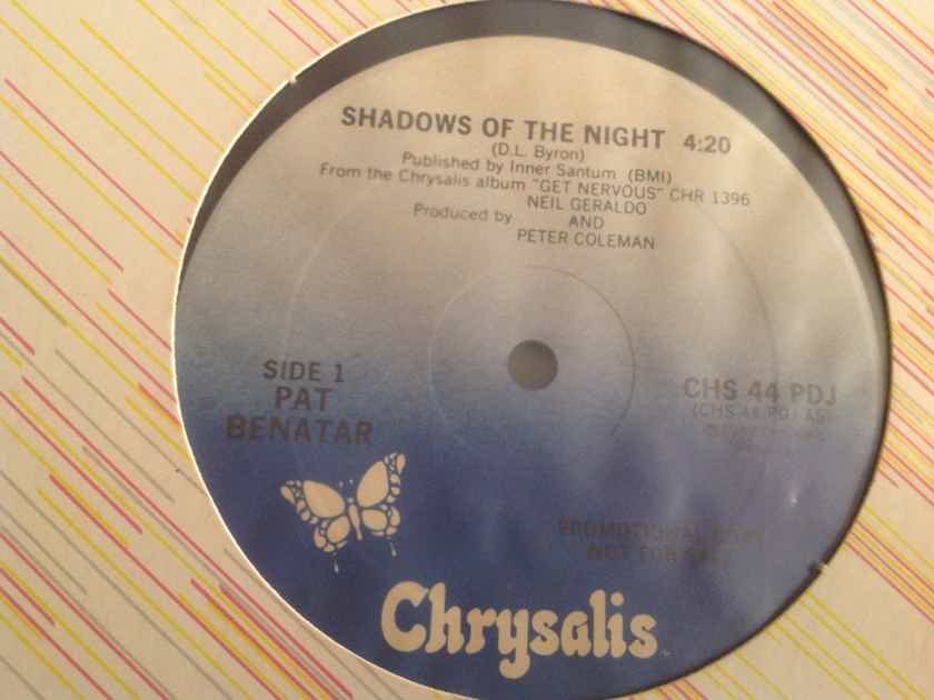 Pat Benatar Shadows Of The Night Chrysalis Records Promo 12 Inch Single