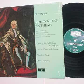 GF Handel Coronation Anthems lp record Argo ZRG 5369