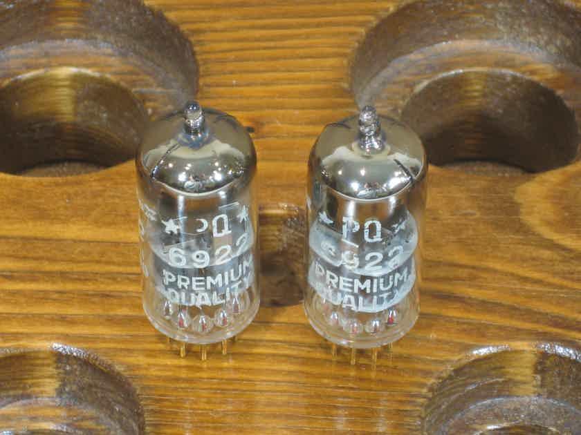 Amperex Holland 6922 D getter Matching pair