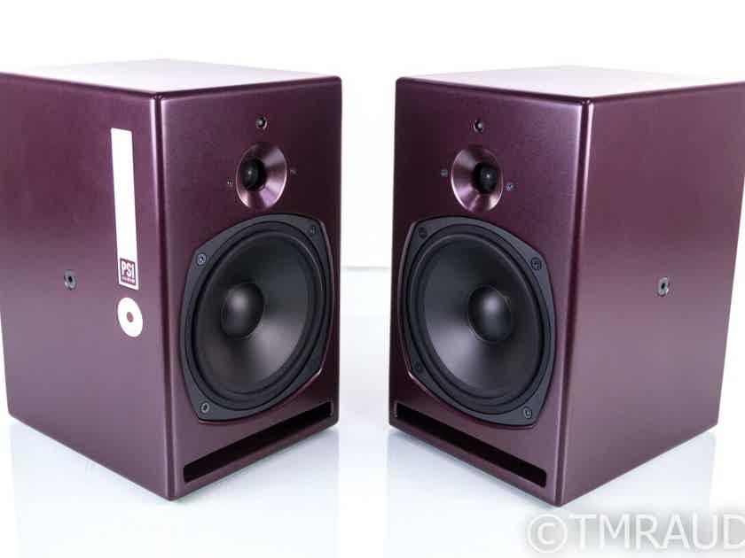 PSI Audio A21-M Active Bookshelf Speakers; Burgundy Pair; A21M (20073)