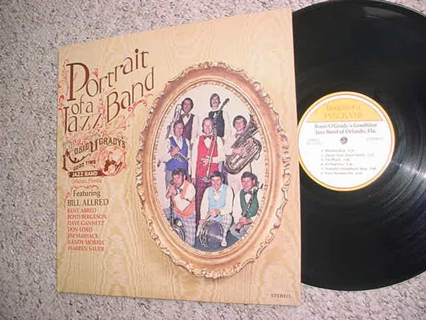 Portrait of a jazz band - lp record Rosie Ogrady's good time jazz band of Orlando Bill Allred more
