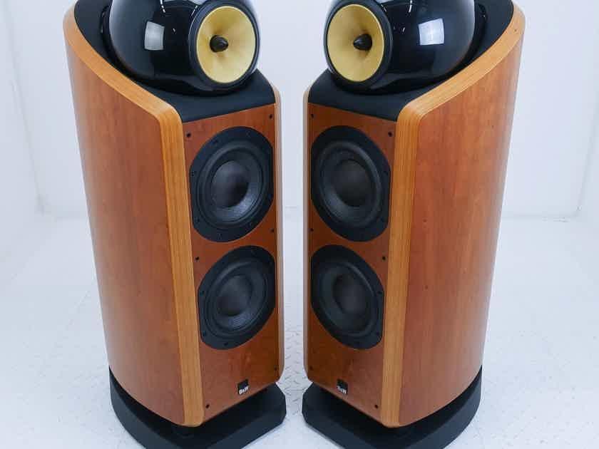B&W 802D Floorstanding Speakers; Cherrywood Pair; 802-D (15913)
