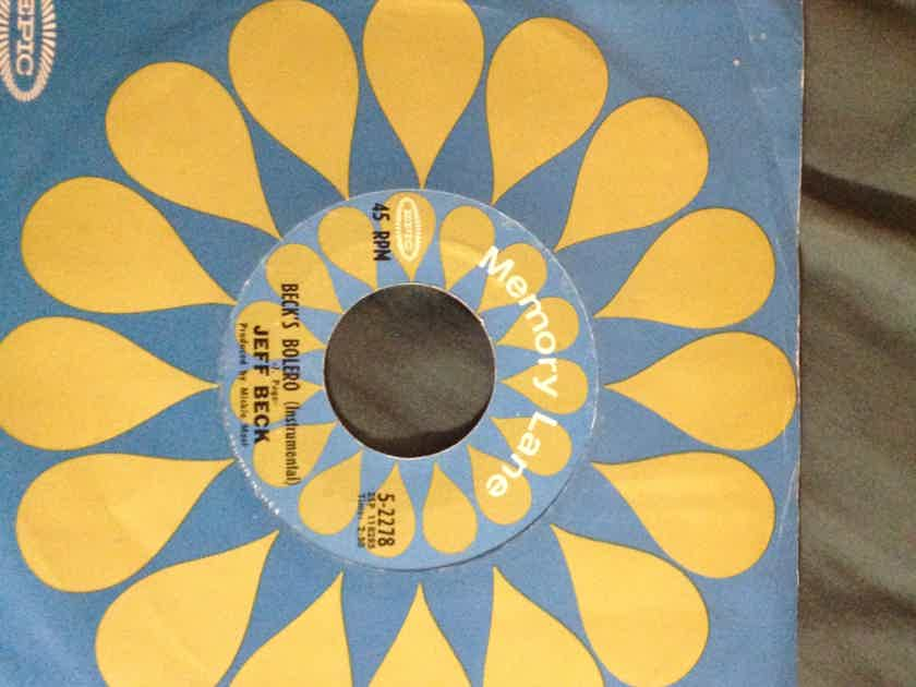 Jeff Beck - Beck's Bolero/Hi Ho Silver Lining Epic Records Label 45 Single Vinyl  NM Keith Moon Drums