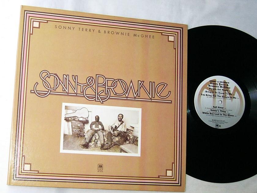SONNY TERRY & BROWNIE - McGHEE--SONNY & BROWNIE-- - RARE ORIG 1973 BLUES LP - A&M