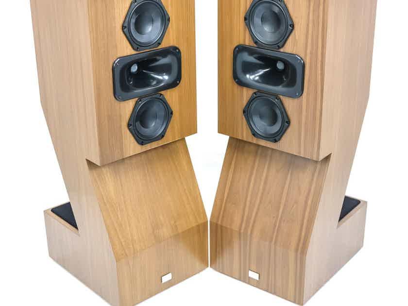 Audiokinesis Zephrin 46 Floorstanding Speakers; Walnut Pair; Upgraded (27847)