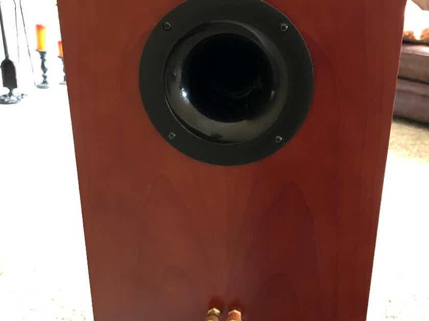 Dayton Audio USHER 8945A and 9930 based bookshelf speakers speaker pair with sand filled stands