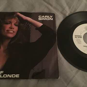 Carly Simon  Tired Of Being Blonde Promo 45 With Pictur...