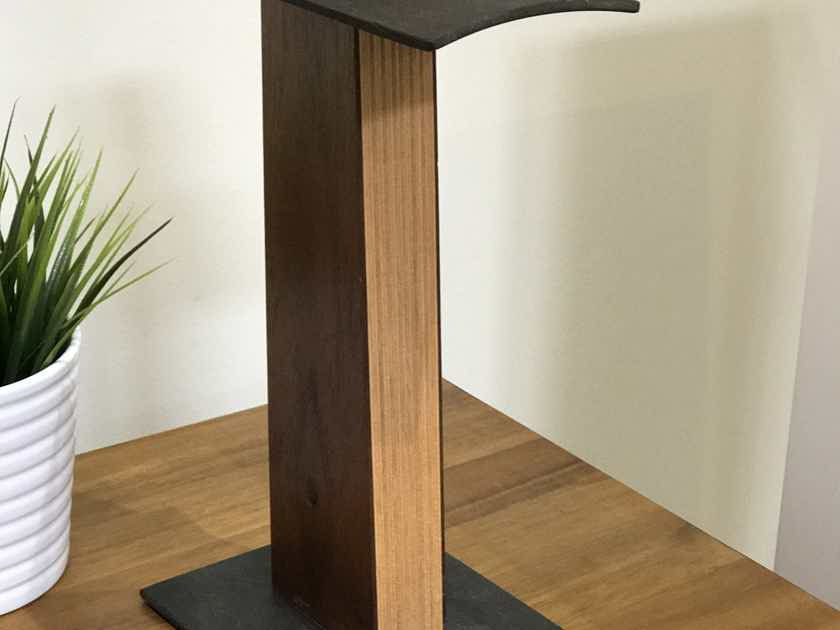 Custom Design Headphone Stand - Handmade in USA, Steel/Wood, Midcentury/Industrial