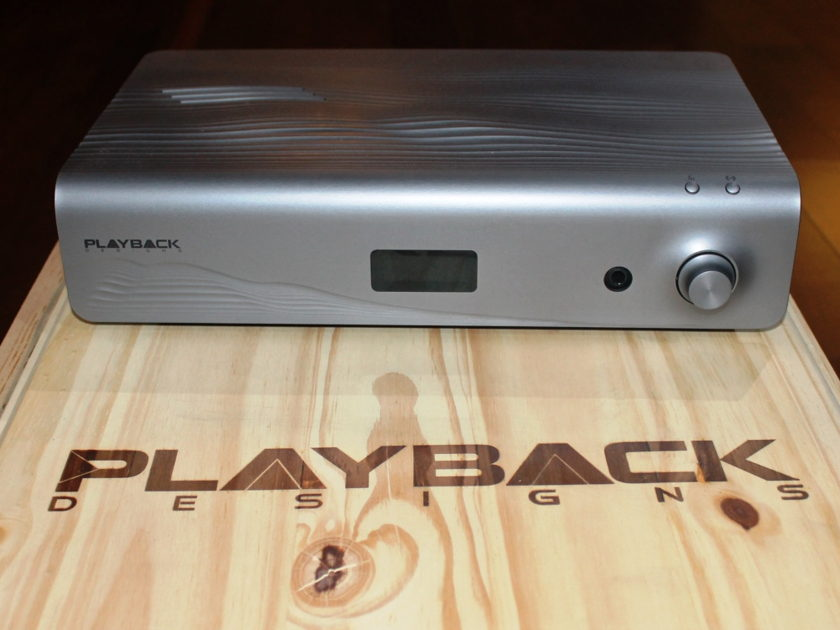 Playback Designs Merlot DAC Sonama Series, FPGA DAC, Quad Rate DSD. Software upgradable.