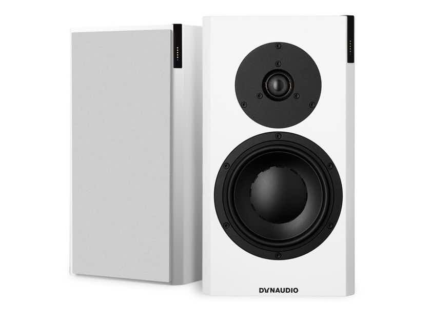 Dynaudio Focus 20 XD Powered Speakers; Satin White Pair w/ Stands (New) (19494)