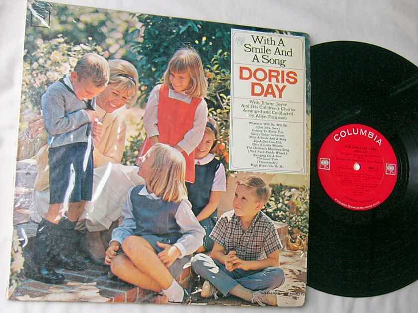 DORIS DAY - WITH A SMILE - AND A SONG - RARE ORIG 1065 LP - COLUMBIA MONO SHRINK